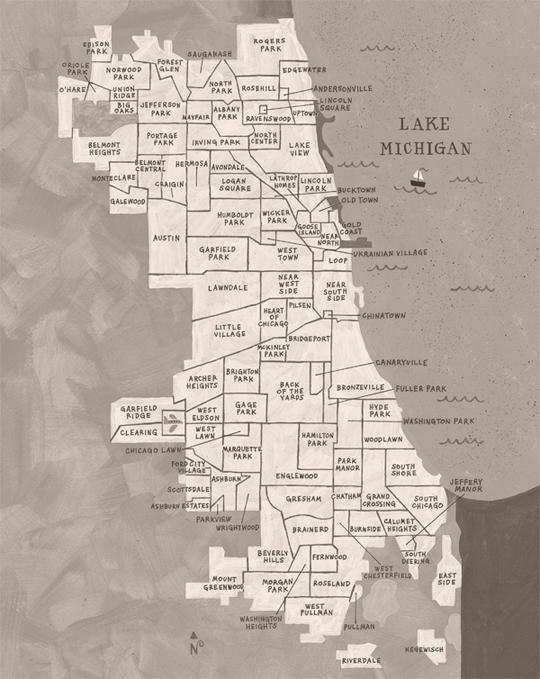 neighborhood Map Chicago